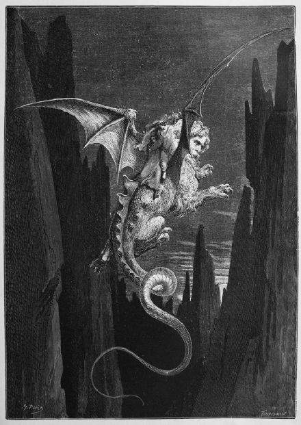Dore, Gustave: New Terror. (Illustration from Dante's Inferno) Fine Art Print.  (003971)